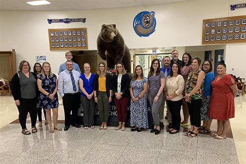 Group photo of new teachers