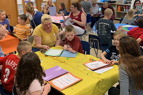 Young Authors' Tea held at Mill Road Elementary