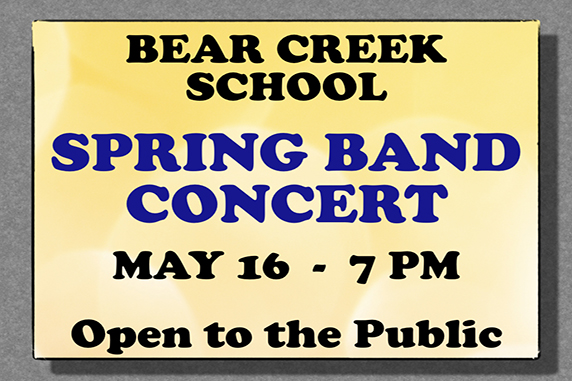 Elementary band concert May 16