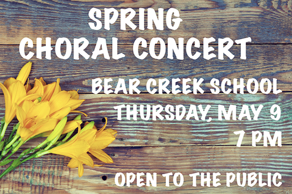 Bear Creek School chorus to perform May 9