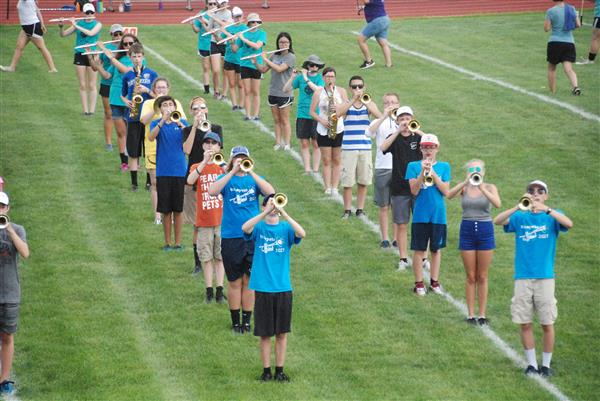 EAHS marching band holds camp to prepare show for new season