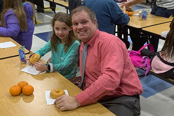 Donuts With My Dude at East High Street Elementary School