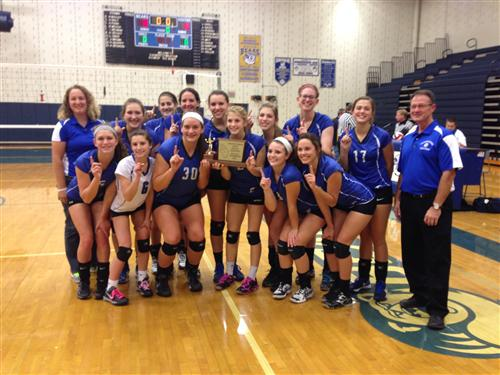 Section Champion Girls' Volleyball Team