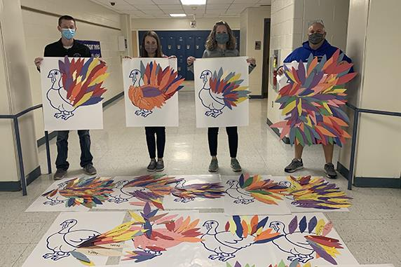 Elizabethtown Area Middle School Delivers Thanksgiving Gift Cards