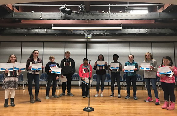Seventh grader Alaina Hellein Wins EAMS Spelling Bee
