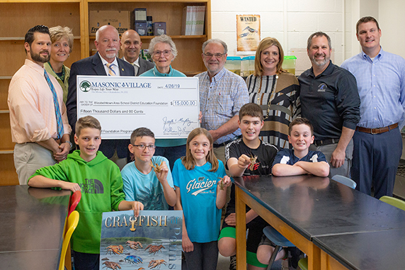 Education Foundation receives $15,000 check from Masonic Village at Elizabethtown