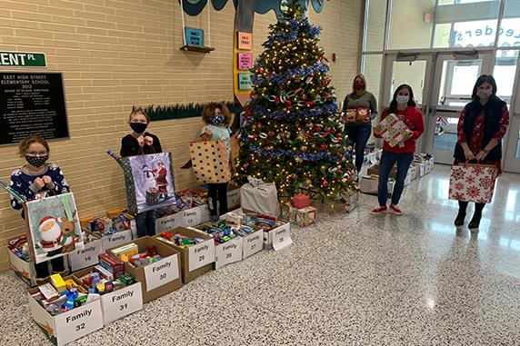 East High Street Elementary School supports holiday Giving Tree and Food Drive