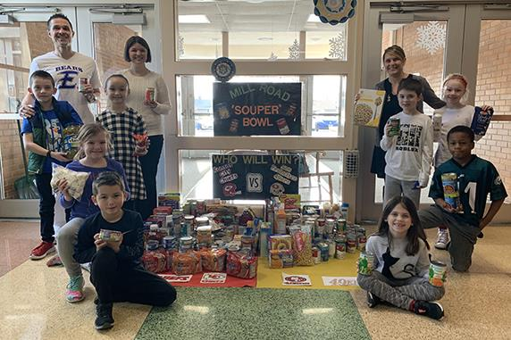"Mill Road Elementary catches ""Souper Bowl"" fever"