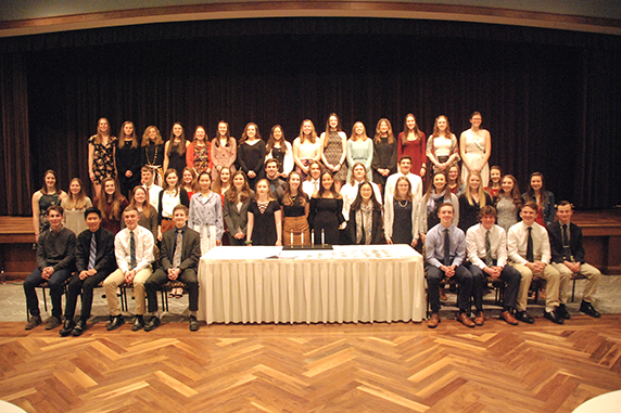 EAHS inducts 57 students into its National Honor Society