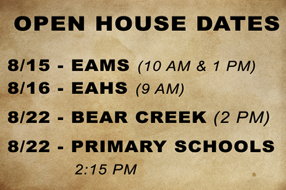 EASD Announces School Open House Dates