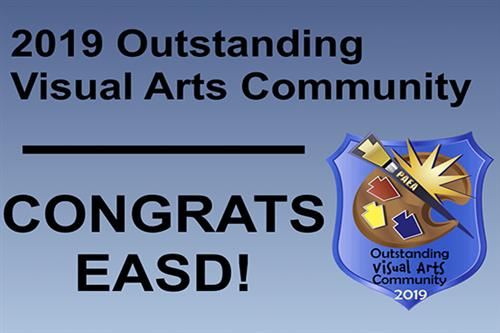 EASD receives prestigious Outstanding Visual Arts Community distinction