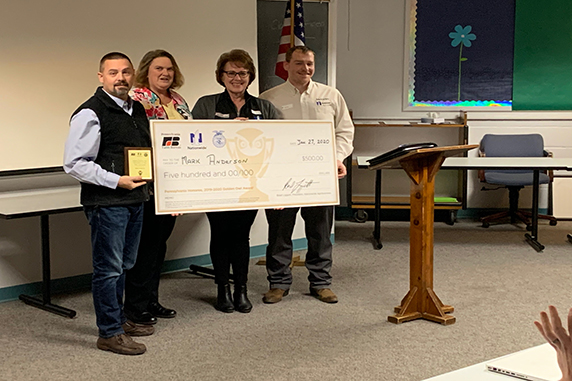 EAHS Teacher Named Pennsylvania's Outstanding Teacher in Agriculture Education