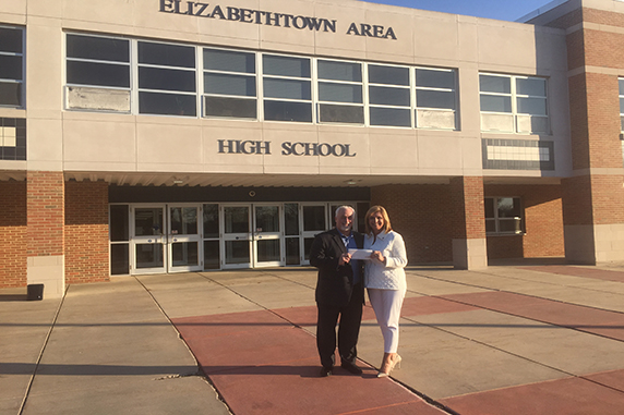 PMSS Group presents $5,000 to Elizabethtown Area Education Foundation