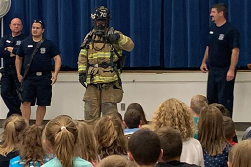 Rheems Elementary celebrates fire prevention month