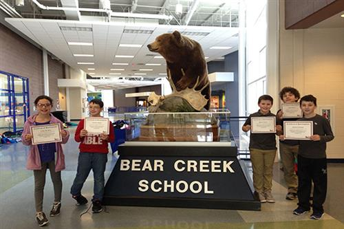 Bear Creek School team places first at Science, Technology, Engineering and Math Competition