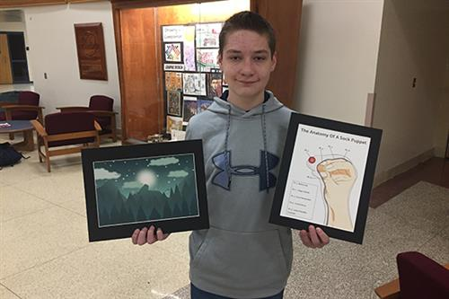 EAHS student earns awards in local art contests