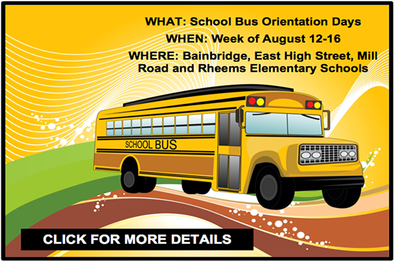EASD to host School Bus Orientation Days in August
