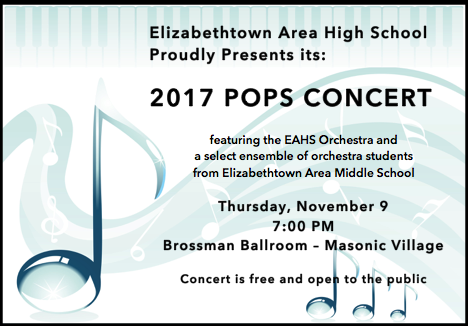 EAHS Orchestra to Perform Pops Concert
