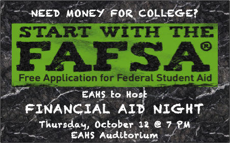 Financial Aid Night Scheduled for Thursday, October 12
