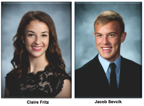 Claire Fritz and Jacob Sevcik