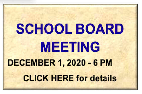 School Board Meeting - Annual Reorganization and December Workshop