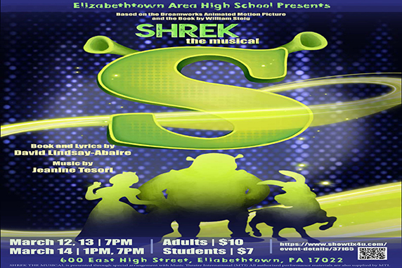 EAHS To Present Tony Award-winning musical Shrek March 12th, 13th & 14th