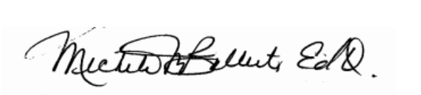 Signature for Dr. Michele Balliet