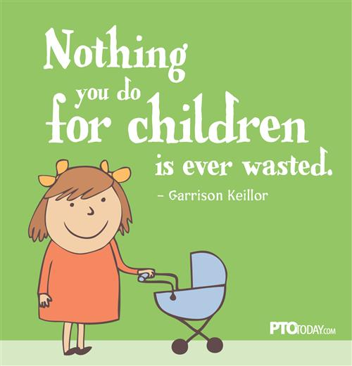 Nothing you do for children is ever wasted logo
