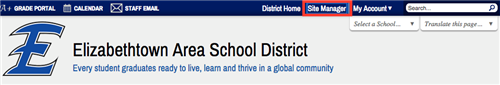 Site Manager button