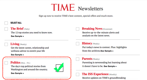 Time NewsletterStories