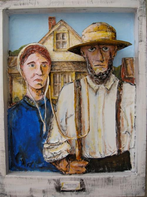 Lancaster Amish (Grant Wood's American Gothic)
