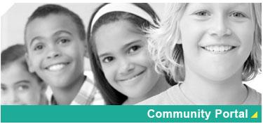 Communuty Portal Logo and Link